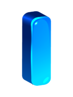 объемная голубая цифра 1